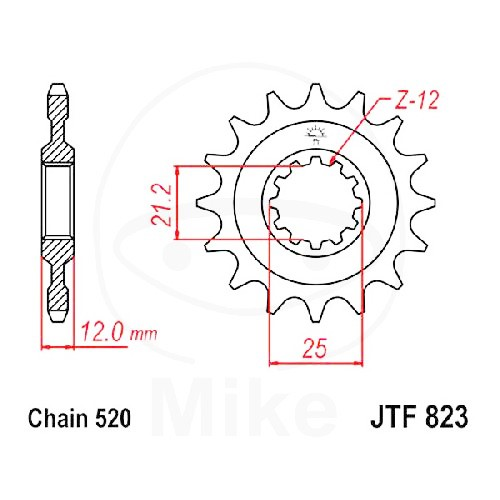 Ritzel 13Z Teilung 520