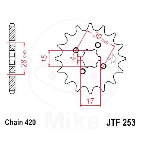Ritzel 18Z Teilung 420