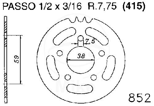 Kettenrad 45Z Teil 415