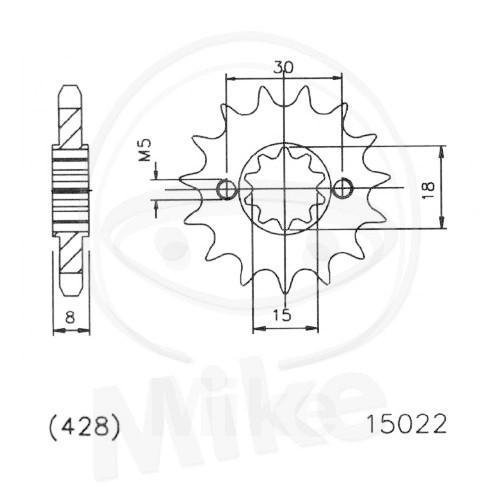 Ritzel 15Z Teilung 428