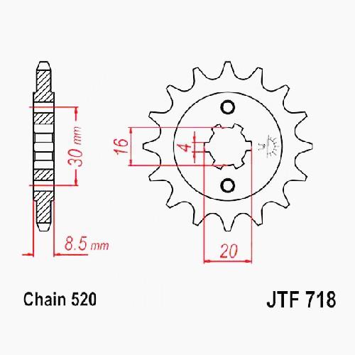Ritzel 12Z Teilung 520